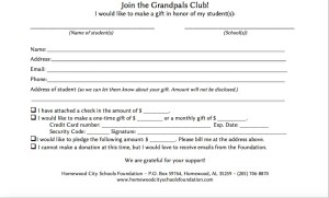 grandpals club signup sheet website homewood city schools foundation